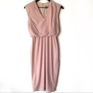 Asos midi rose dress